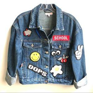 Jackets & Blazers - Patch Denim Jacket